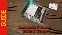 Ashfall Peaks ECHO Logs
