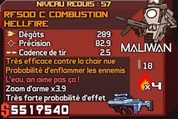 RF500 C Combustion Hellfire