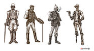 Borderlands2 character npc sir hammerlock sketches by matias tapia