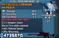 PPZ1070.G Crimson Invader OBY