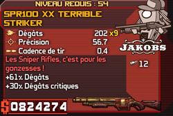 SPR100 XX Terrible Striker