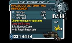 Mal2000 detonating anaconda