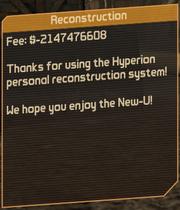 ReconstructionGlitch