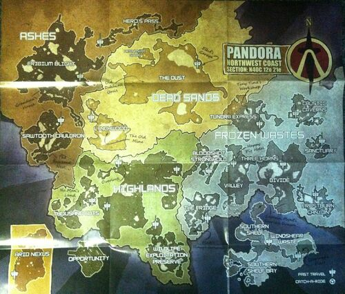 Borderlands 2 World Map