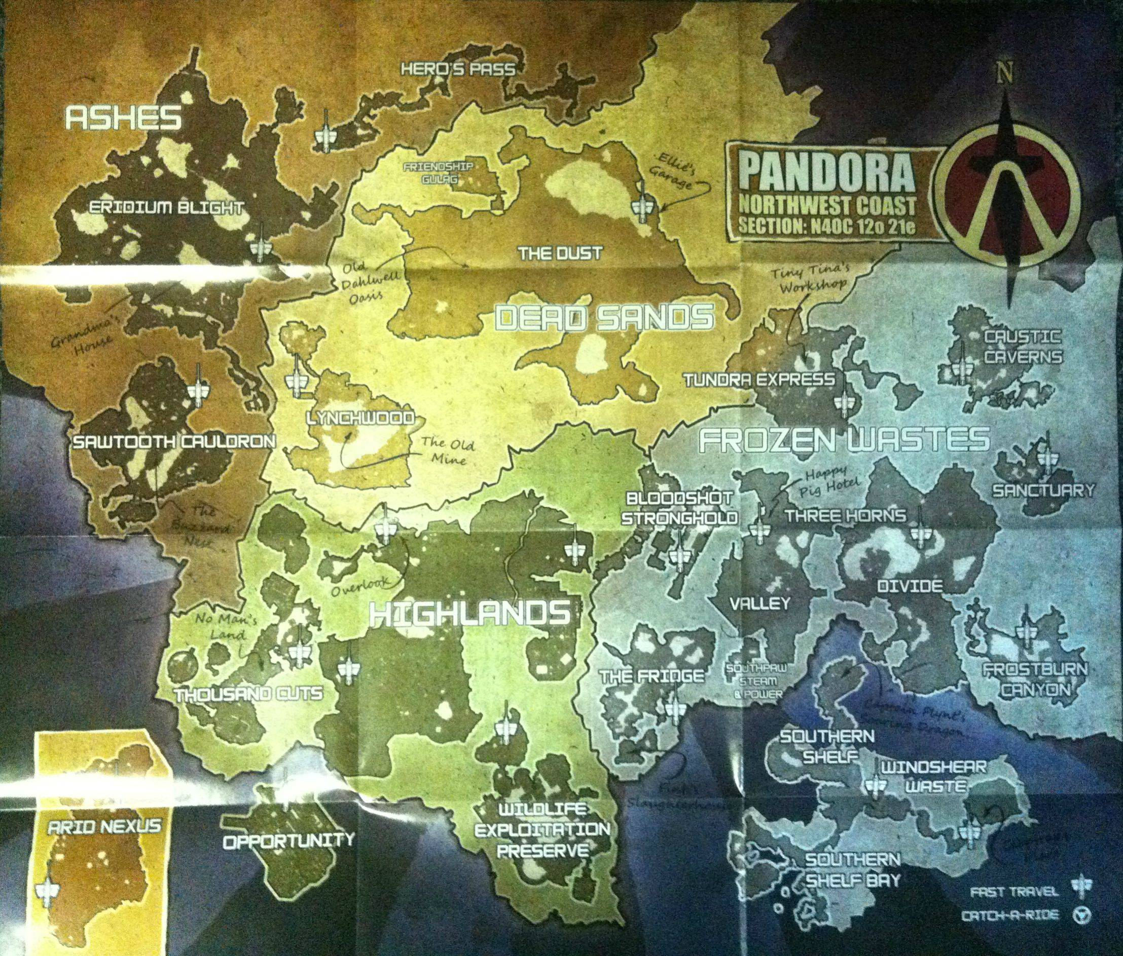 Maps of the borderlands borderlands wiki fandom powered by wikia maps of borderlands 2 gumiabroncs Images