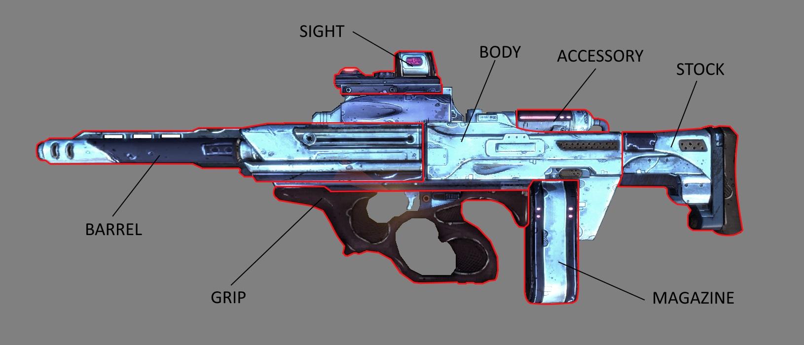 Submachine Gun/parts | Borderlands Wiki | FANDOM powered by