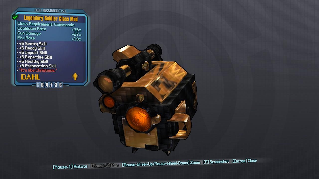 legendary mechromancer class mod gibbed code
