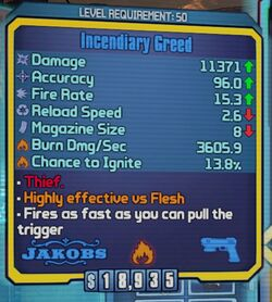 Incendiary Greed type 1