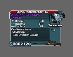 VRR5 XX Fearsome Sniper
