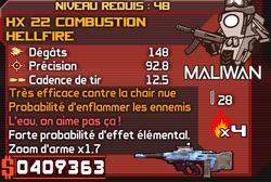 HX 22 Combustion Hellfire
