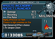 43 RPG570 incendiary rocket launcher