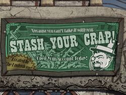 BL1 Stash Your Crap Billboard