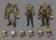 Borderlands2 character hyperion hyperion engineer by matias tapia