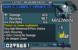 GGN C Cobalt Hawkeye