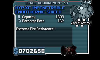 HYP-XC Impenetrable Endothermic Shield