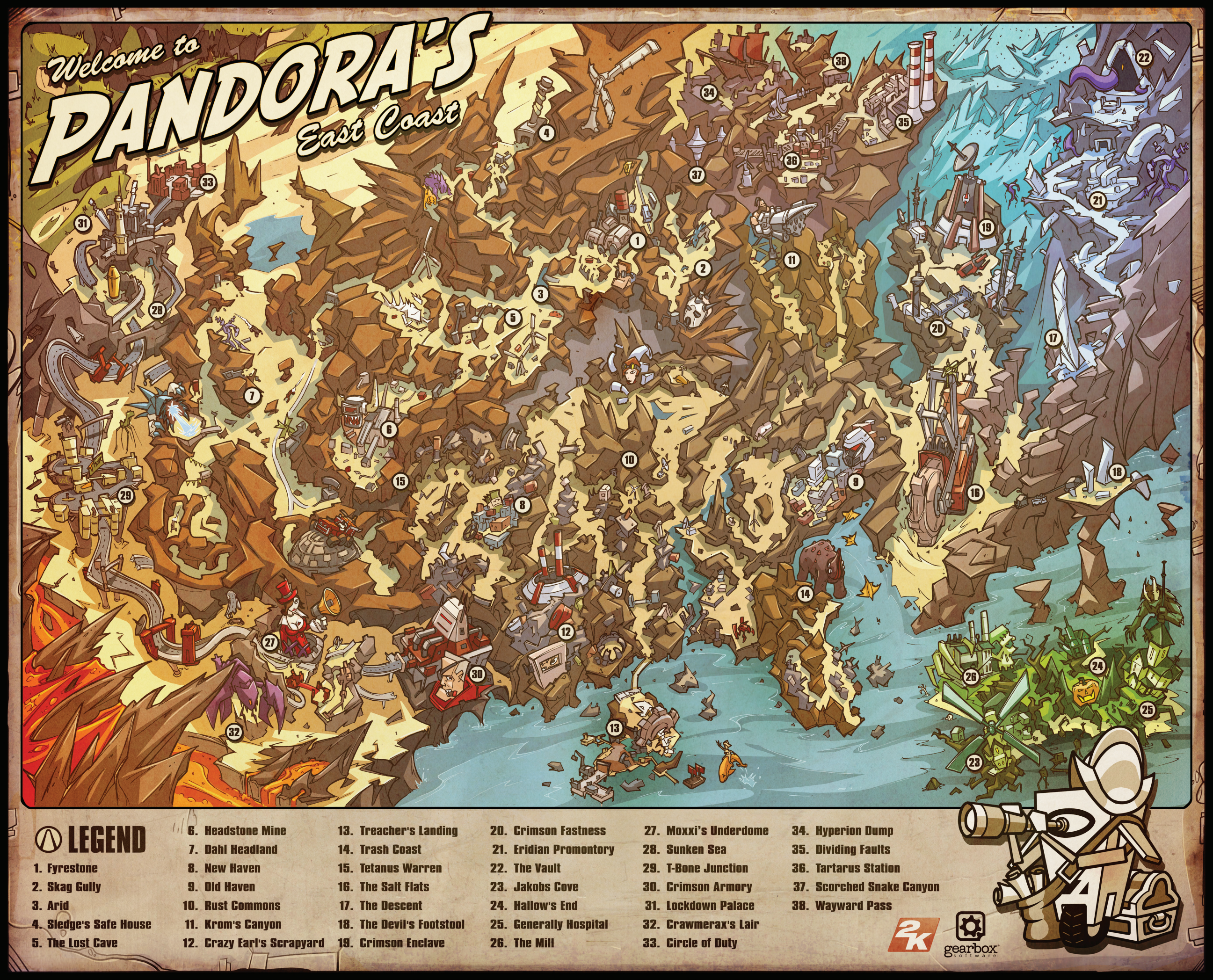 Maps of the borderlands borderlands wiki fandom powered by wikia gumiabroncs Choice Image