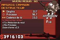 AR520.G Crimson Destructeur