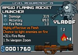 RPG10 Flaming Rocket Launcher