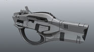 Borderlands2 weapon maliwan smg variant by kevin duc