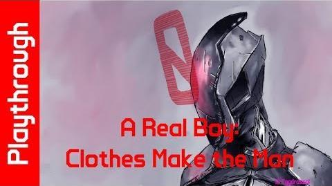 A Real Boy Clothes Make the Man