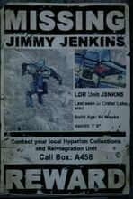 Jimmy Jenkins Wanted Poster