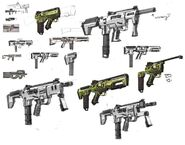 Borderlands2 weapon dahl smg sketches by kevin duc