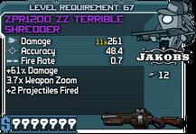 ZPR1200 ZZ Terrible Shredder