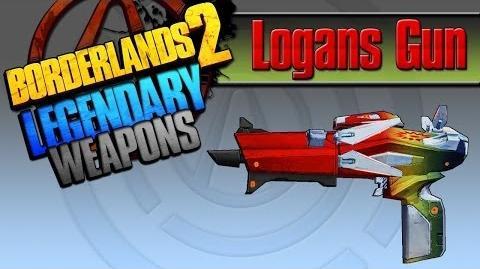 Borderlands 2 легендарные пушки 23 Logan's Gun(Ствол Логана)