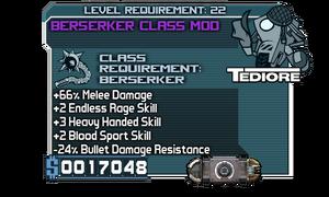 Berserker Class Mod