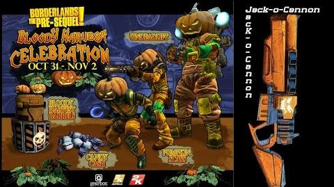 Borderlands The Pre Sequel Halloween Канонир Jack o Cannon