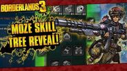 Borderlands 3 Moze The Gunner Full In-Game Skill Tree Reveal!