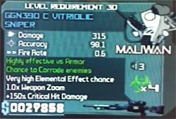 Maliwan GGN390 C Vitriolic Sniper 22-01-10