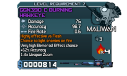 GGN390 C Burning Hawkeye