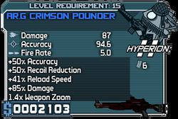 Arg crimson pounder 15