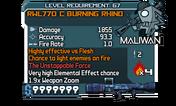 RWL770 C Burning Rhino