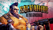 Salvador as the Gunzerker