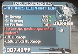 Whittings elephant gun