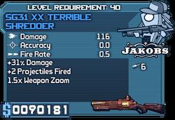 Sg31 xx terrible shredder