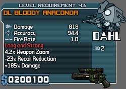 Bloody anaconda 43