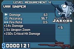 VRR Sniper