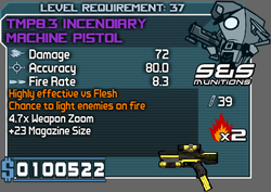 TMP8.3 INCENDIARY MACHINE PISTOL