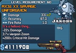 AX31 XX Savage Unforgiven OBYC