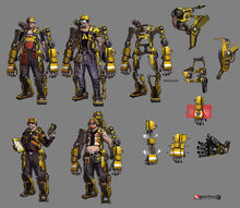 Borderlands2 character hyperion hyperion engineer sketches by matias tapia