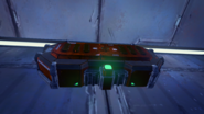 Красный сундук Скав закрытый