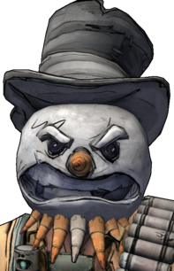Голова - Киборг-снеговик