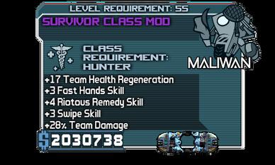 Survivor Class Mod