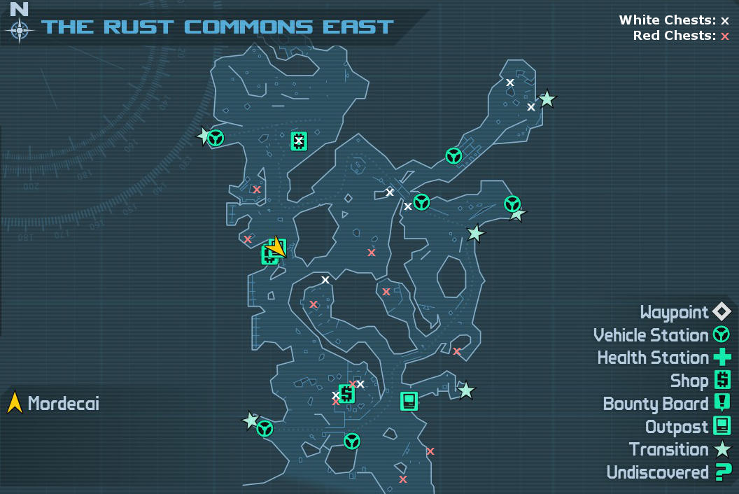The Rust Commons East: Weapon Crate Locations | Borderlands