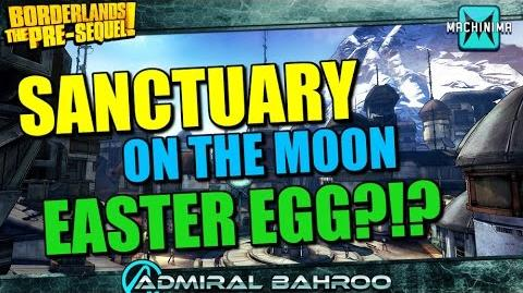 Borderlands the Pre-Sequel Sanctuary is on the Moon Easter Egg?!