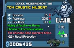 Dahl td4 caustic wildcat