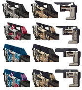 Borderlands2 weapon tedior smg body variations by kevin duc